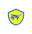 Commercial Airplane Jet Plane Airline Retro vector image vector image