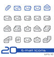 Email Outline Series vector image vector image