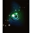Glowing circle in dark space vector image vector image