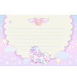 cute pastel magical lovely unicorn rainbow cloud vector image vector image