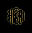 The word Ahimsa glowing in the dark- symbol of Jai vector image