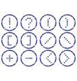 matrix symbols icon  vector image