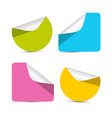Colorful Empty Stickers - Labels Set Isolated on vector image