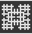Empty Squares British-style Crossword Grid vector image