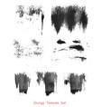 grungy brush strokes set vector image