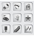 Icons on the buttons for Web Design Set 8 vector image