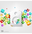 Music loudspeaker subwoofer icon Application vector image