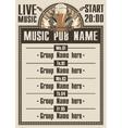 musical pub vector image