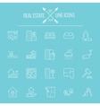 Real estate icon set vector image