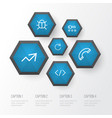 user outline icons set collection of bug call vector image