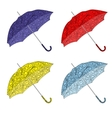 colorful painted umbrellas vector image vector image