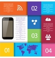 Set of Infographic Elements World Map and vector image vector image