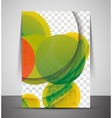Green design business corporate print template vector image
