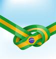 brazil ribbon flag on background vector image vector image