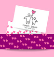 love care logo template vector image
