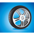 automotive wheel vector image vector image