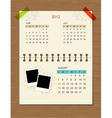 calendar2012 august vector image vector image