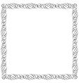 Simple calligraphic frame for design vector image