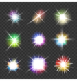 flashes with color lights vector image vector image
