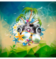 Summer Holiday on a Music and Party theme vector image vector image