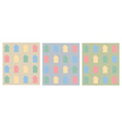Colorful flat houses pattern vector image