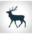 Deer black silhouette vector image