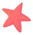 starfish icon cartoon style vector image