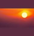 sunrise on red sky with cloud vector image