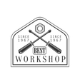 Crossed Screwdrivers Premium Quality Wood Workshop vector image