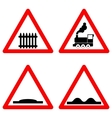 Traffic signs set on white background vector image