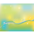 Abstract wave line background vector image vector image