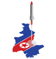 North Korea Rocket Vector Image