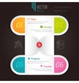 infographic options tab vector image vector image