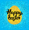 happy easter glitter design vector image