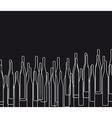 Background with bottles BLACK vector image