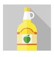 flat apple cider vinegar bottle template vector image