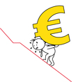 man carrying a steep euro vector image
