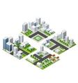 skyscraper kit metropolis vector image