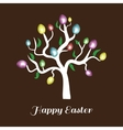 easter tree white Holiday card vector image