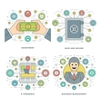 Flat line Investment Security E-commerce vector image