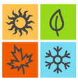 four season icon vector image