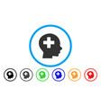 head medicine rounded icon vector image