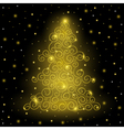 Original Golden Christmas tree vector image