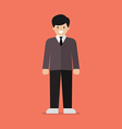 Young man in flat style vector image