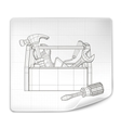 Tool box drawing vector image vector image