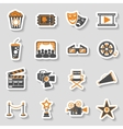 Cinema and Movie sticker Icons Set vector image
