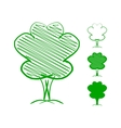Tree Hand drawn sketch vector image