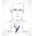 Stylish businessman portrait vector image
