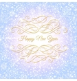 Christmas and New Year background greeting card vector image