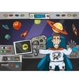 Astronaut In Spaceship vector image